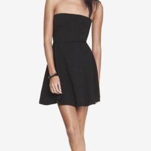 Express Dresses - Black Strapless Skater Dress